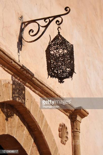 rabat kasbah of the udayas lantern - north africa stock pictures, royalty-free photos & images