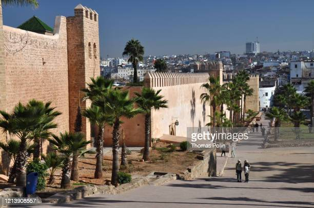 rabat kasbah of the udayas - rabat morocco stock pictures, royalty-free photos & images