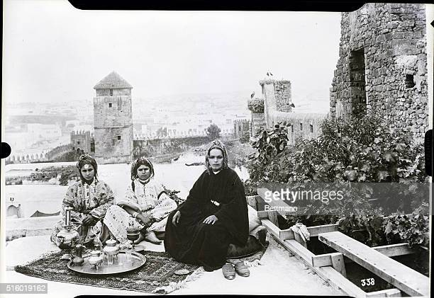 Coffee on the terrace of the Oudayas Rabat Morocco Photograph