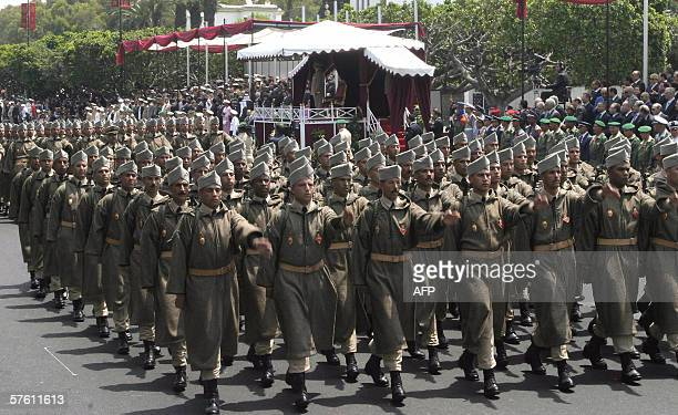 King Mohammed VI of Morocco and Prince Moulay Rachid review Morocann army divisions in Rabat 14 May 2006 celebrated the 50th anniversary of the...