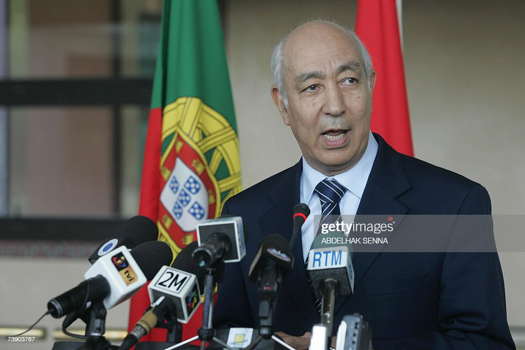 Moroccan Prime Minister Driss Jettou hol... : News Photo