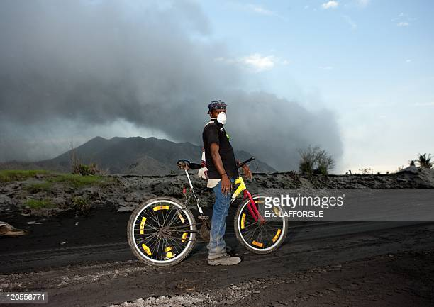 Rabaul in New Britain Papua New Guinea on September 29 2009 An eruption of the Tavurvur Rabaul volcano in 1994 destroyed everything around The place...