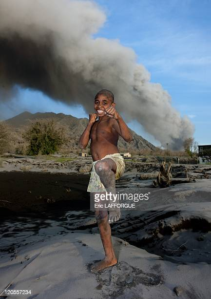 Rabaul in New Britain, Papua New Guinea on September 29, 2009 - Mister Benben, from Rabaul. In 1994, an eruption forced the abandonment of most of...