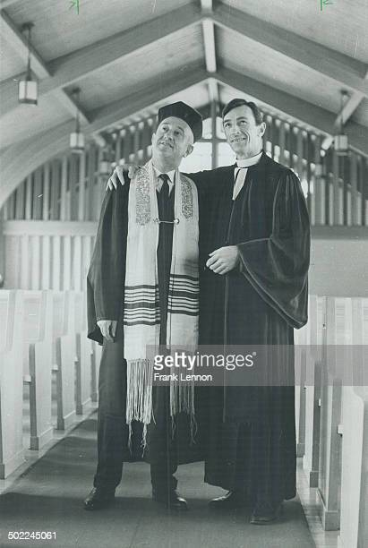 Rabbi Aaron Zimmerman and Rev David Wilkinson pose in the latter's Wilson Heights United Church This church is soon to become Beth Meyer Synagogue