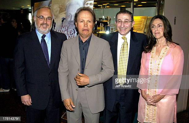 Rabbi Abraham Cooper, associate dean of the Simon Wiesenthal Center, Billy Crystal, Rabbi Marvin Hier, founder and dean of the Simon Wiesenthal...