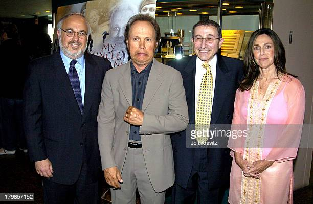 Rabbi Abraham Cooper, associate dean of the Simon Wiesenthal Center, Billy Crystal, Rabbi Marvin Hier, founder and dean of the Simon Wiesenthal...