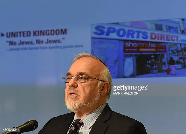 Rabbi Abraham Cooper from the Simon Wiesenthal Center briefs the media after releasing its annual Top Ten Worst Global Anti Semitic/Anti-Israel...