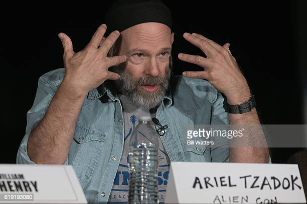 Rabbi Ariel Bar Tzadok speaks at the Ancient Aliens Alien Technology panel during Alien Con at the Santa Clara Convention Center on October 29 2016...