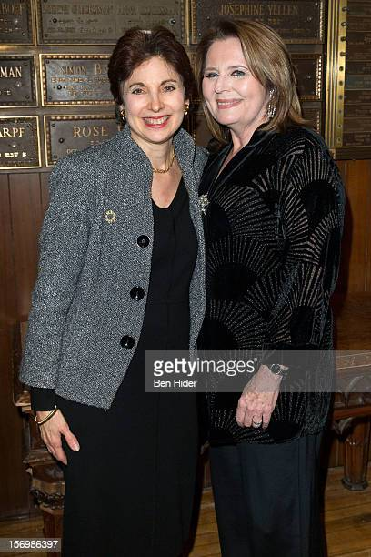 Rabbi Jill Hausman and Producer Randie Levine-Miller attend Broadway & Cabaret Community Salute The Actors' Temple at The Actors Temple on November...