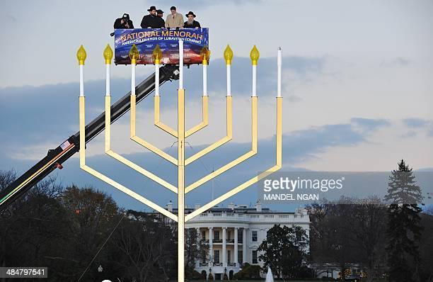 Rabbi Levi Shemtov Washington Director American Friends of Lubavitch White Houe Budget Director Jacob Lew and Rabbi Abraham Shemtov Director American...