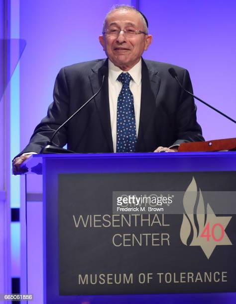 Rabbi Marvin Hier attends The Simon Wiesenthal Center's 2017 National Tribute Dinner at The Beverly Hilton Hotel on April 5 2017 in Beverly Hills...