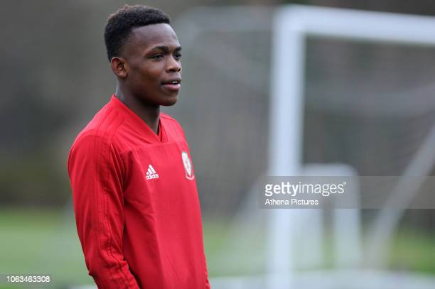 Rabbi Matondo of Wales during the Wales Training Session at The Vale Resort on November 19 2018 in Cardiff Wales
