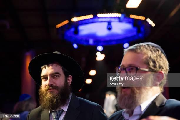 Rabbi Menachem Hartman Vietnam's Chabad Lubavitch rabbi and Rabbi Yitzchak Rabinowitz from Colombus Ohio during the ChabadLubavitch annual dinner on...