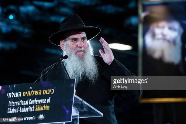 Rabbi Moshe Kotlarski the Vice Chairman of the educational arm of ChabadLubavitch speaks during the ChabadLubavitch annual dinner on November 19 2017...