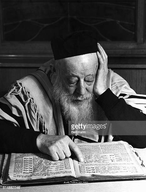 Rabbi reading the Talmud Undated photograph