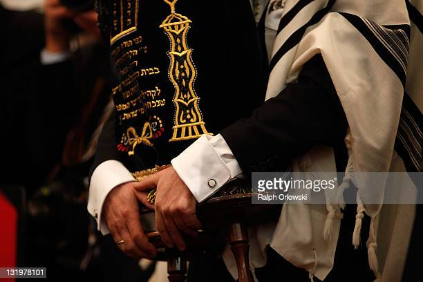 Rabbi Rubins holds the Torah during the official opening ceremony of the new synagogue on November 9, 2011 in Speyer, Germany. Jews first settled in...