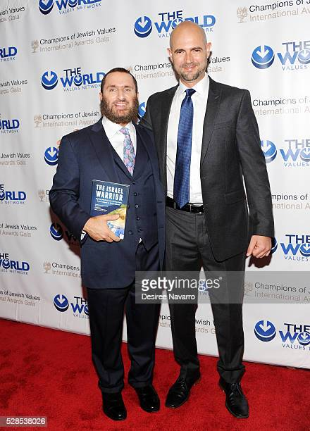 Rabbi Shmuley Boteach and Amir Ohana attend the 4th Annual Champions Of Jewish Values International Awards Gala at Marriott Marquis Broadway Ballroom...