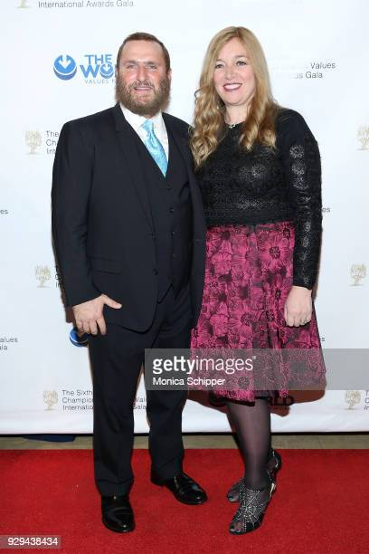Rabbi Shmuley Boteach and Debbie Boteach attend the 2018 World Values Network Champions of Jewish Values Awards Gala at The Plaza Hotel on March 8,...