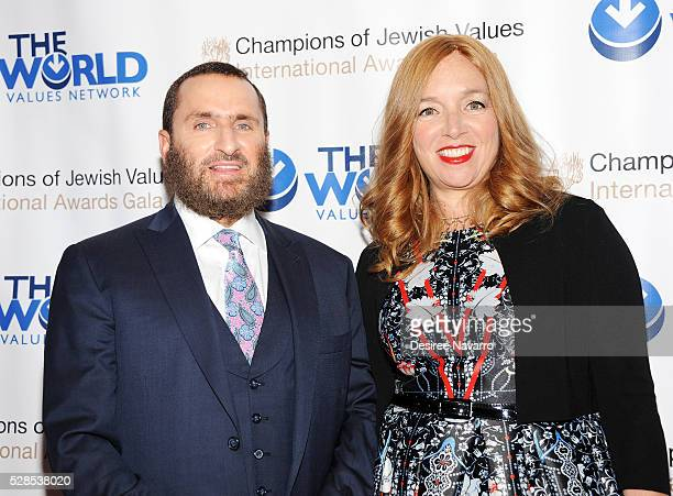 Rabbi Shmuley Boteach and his wife Debbie Boteach attend the 4th Annual Champions Of Jewish Values International Awards Gala at Marriott Marquis...