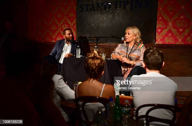 Rabbi Shmuley Boteach and Roseanne Barr attend live podcast at Stand Up NY on July 26, 2018 in New York City.