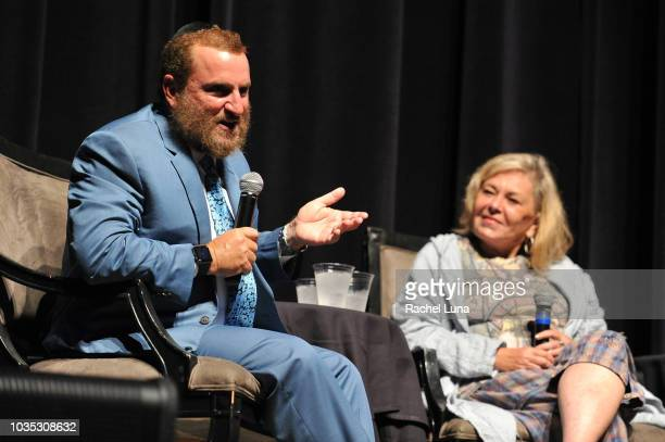 """Rabbi Shmuley Boteach and Roseanne Barr participate in """"Is America a Forgiving Nation?,'' a Yom Kippur eve talk on forgiveness hosted by the World..."""