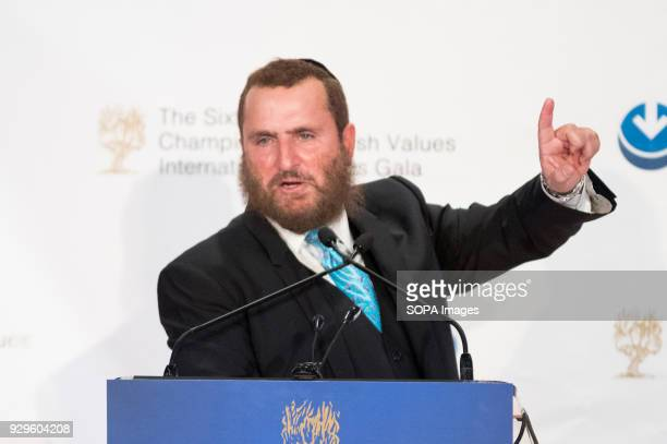 Rabbi Shmuley Boteach, founder and Executive Director of the World Values Network, speaking at the Champions of Jewish Values International Awards...