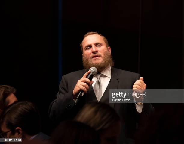 Rabbi Shmuley Boteach speaks during 7th Annual Champions of Jewish Values Gala at Carnegie Hall.