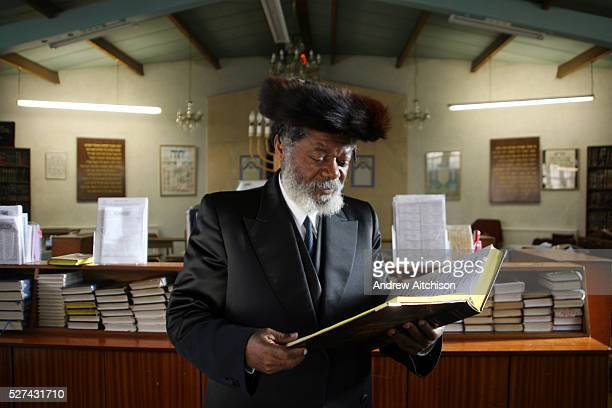 Rabbi Yisrael Oriel Ben Moshe Shlomo an African Rabbi from Cameroon who converted to Judaism 20 years ago He prays at the Persian Hebrew congregation...
