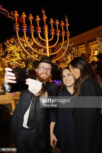 Rabbi Zamy Fogelman Chana Fogelman and Emmanuelle Chriqui at the Village Synagogue and Emmanuelle Chriqui Host Menorah Lighting Ceremony at The Grove...