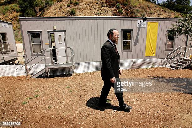 Rabbi Zushe Cunin Executive Director of Chabad of Pacific Palisades walks the campus of the Chabad's current pre–school location in Temescal Gateway...