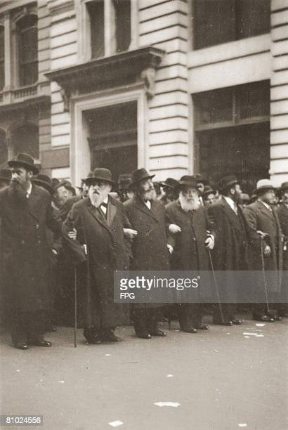 Rabbis in New York stage a demonstration against the actions of new German Chancellor Adolf Hitler 10th May 1933