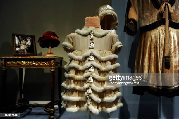 Rabbit fur trims the flower girl dress of Nedenia Hutton the youngest daughter of Marjorie Merriweather Post The dress was worn during Adelaide...