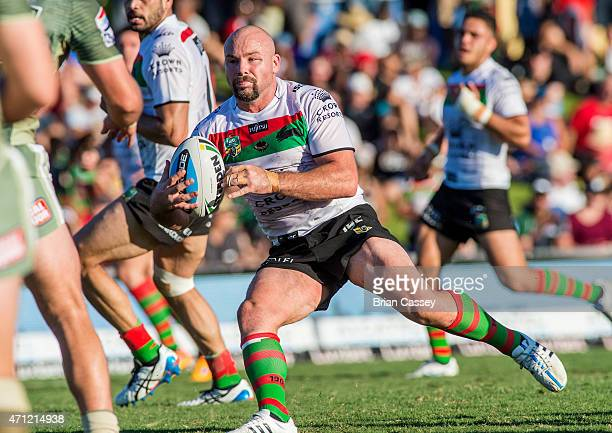Rabbitohs' Glenn Stewart during the round eight NRL match between the South Sydney Rabbitohs and the Canberra Raiders at Barlow Park on April 26,...