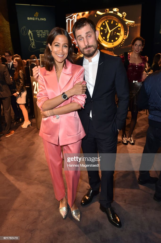 Rabea Schif and Clemens Schick during during the Breitling Roadshow '#LEGENDARYFUTURE' Navitimer 8 at Freiheizhalle on February 20, 2018 in Munich, Germany.
