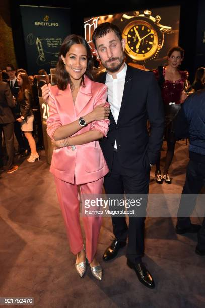 Rabea Schif and Clemens Schick during during the Breitling Roadshow '#LEGENDARYFUTURE' Navitimer 8 at Freiheizhalle on February 20 2018 in Munich...