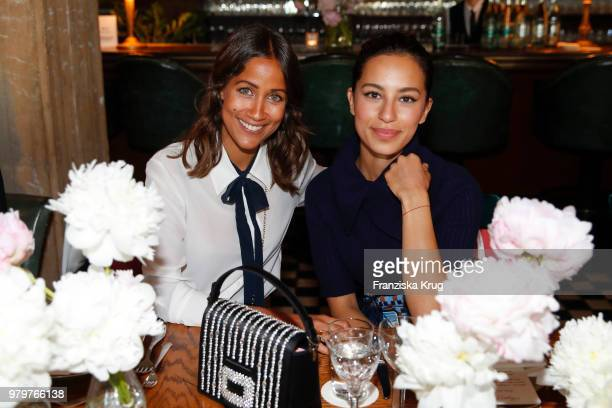 Rabea Schif and Gizem Emre attend the 'Roger Vivier Loves Berlin' event at Soho House on June 20 2018 in Berlin Germany