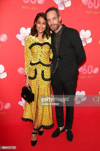 Rabea Schif and her husband David Gergely during the Mon Cheri Barbara Tag at Postpalast on November 30 2017 in Munich Germany