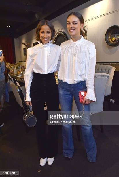 Rabea Schif and Janina Uhse attend the Grazia Future Dinner event at the restaurant Patio on November 23 2017 in Hamburg Germany