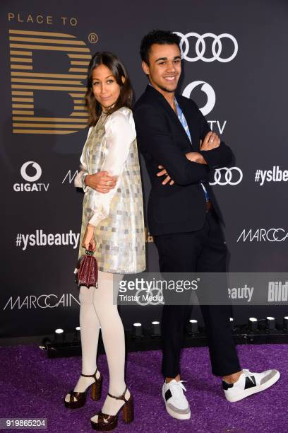 Rabea Schif and Langston Uibel attend the PLACE TO B Party on February 17 2018 in Berlin Germany