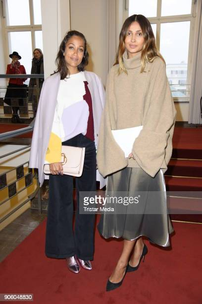 Rabea Schif and Wana Limar during the Perret Schaad Presentation Der Berliner Salon AW 18/19 at Kronprinzenpalais on January 17 2018 in Berlin Germany