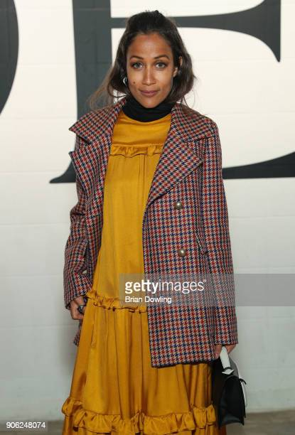 Rabea Schif arrives at Odeeh Defile during 'Der Berliner Salon' AW 18/19 on January 17 2018 in Berlin Germany