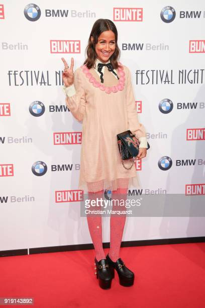 Rabea Schif attends the BUNTE BMW Festival Night on the occasion of the 68th Berlinale International Film Festival Berlin at Restaurant Gendarmerie...