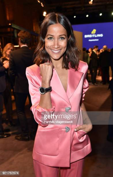 Rabea Schif during during the Breitling Roadshow '#LEGENDARYFUTURE' Navitimer 8 at Freiheizhalle on February 20 2018 in Munich Germany