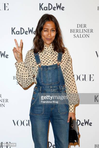 Rabea Schif during the celebration of 'Der Berliner Salon' by KaDeWe Vogue at KaDeWe on January 18 2018 in Berlin Germany