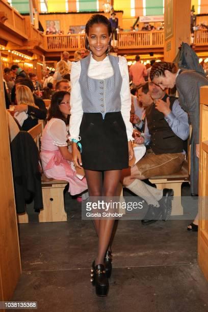 Rabea Schif during the 'Fruehstueck bei Tiffany' at Schuetzenfestzelt at the Oktoberfest on September 22 2018 in Munich Germany