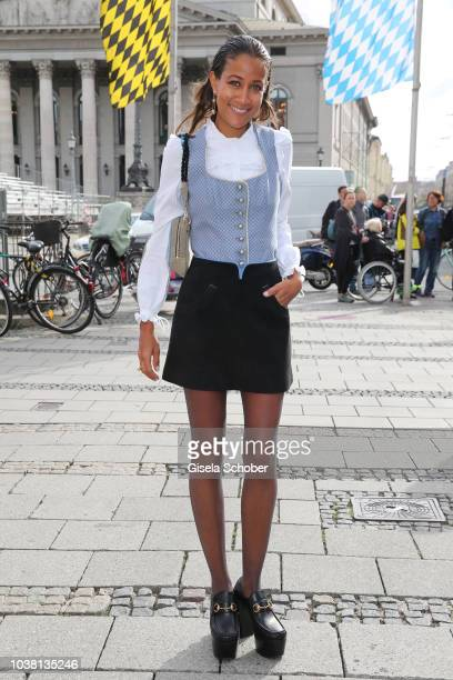 Rabea Schif during the 'Fruehstueck bei Tiffany' at Tiffany Store ahead of the Oktoberfest on September 22 2018 in Munich Germany