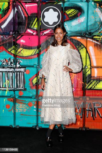 """Rabea Schif during the Montblanc launch event """"Reconnect To The World"""" at Metropol Theater on April 24, 2019 in Berlin, Germany."""