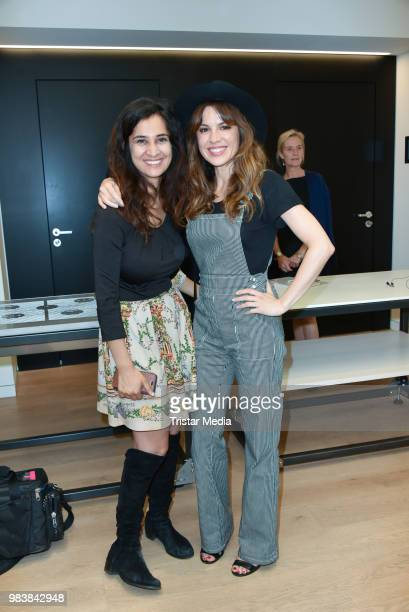 Rabeah Rahimi and Natalia Avelon during the 'VW Drive and die Arche' Charity Event at DRIVE Volkswagen Group Forum on June 25 2018 in Berlin Germany