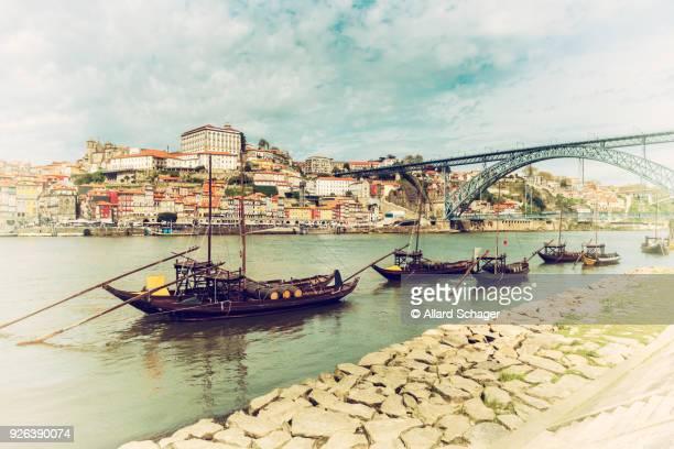 Rabelo Boats in Porto Portugal