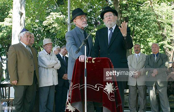 Rabi Menahem Hakoen from Israel, speaks during the 62nd ceremony of commemoration of Jewish Holocaust victims from 29 June 1941, at the Jewish...